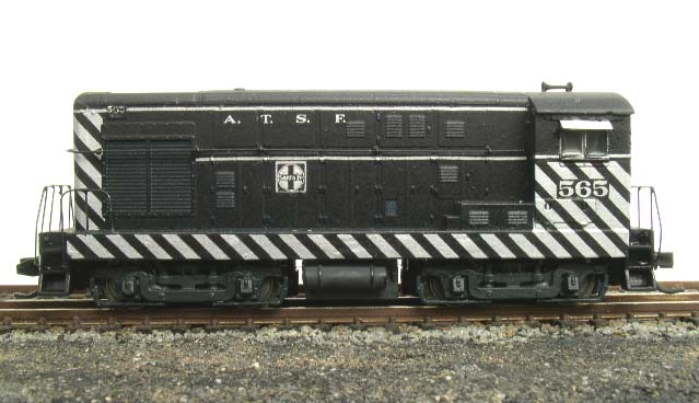 N scale brass handrails Minitrix FM switcher