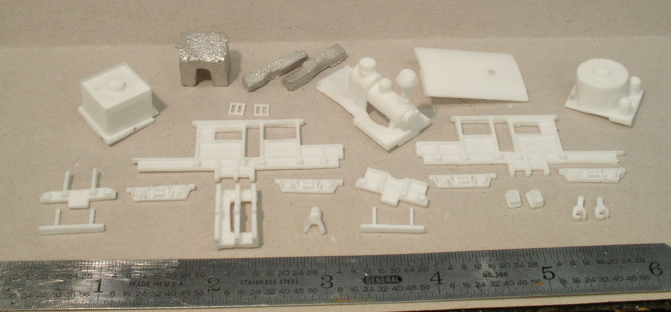N scale Climax A 18-ton conversion kit parts